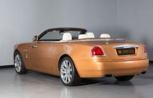 Rolls Royce Dawn Gold Clock