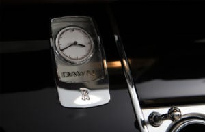 Rolls Royce Dawn Red Clock