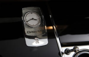 Rolls Royce Dawn White Clock