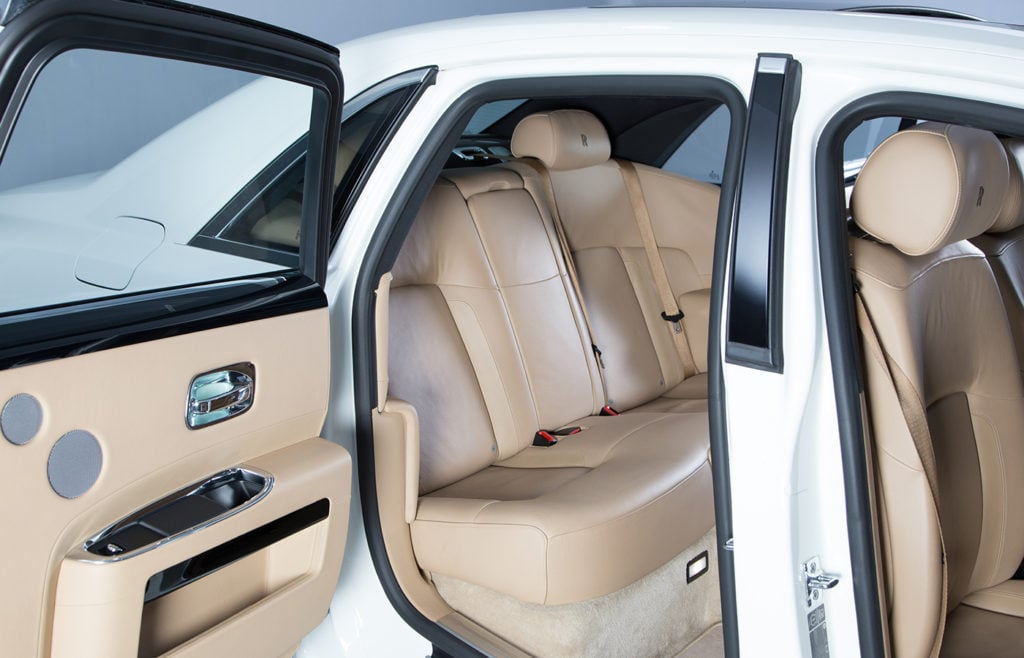 Rolls Royce Ghost White Back Seats