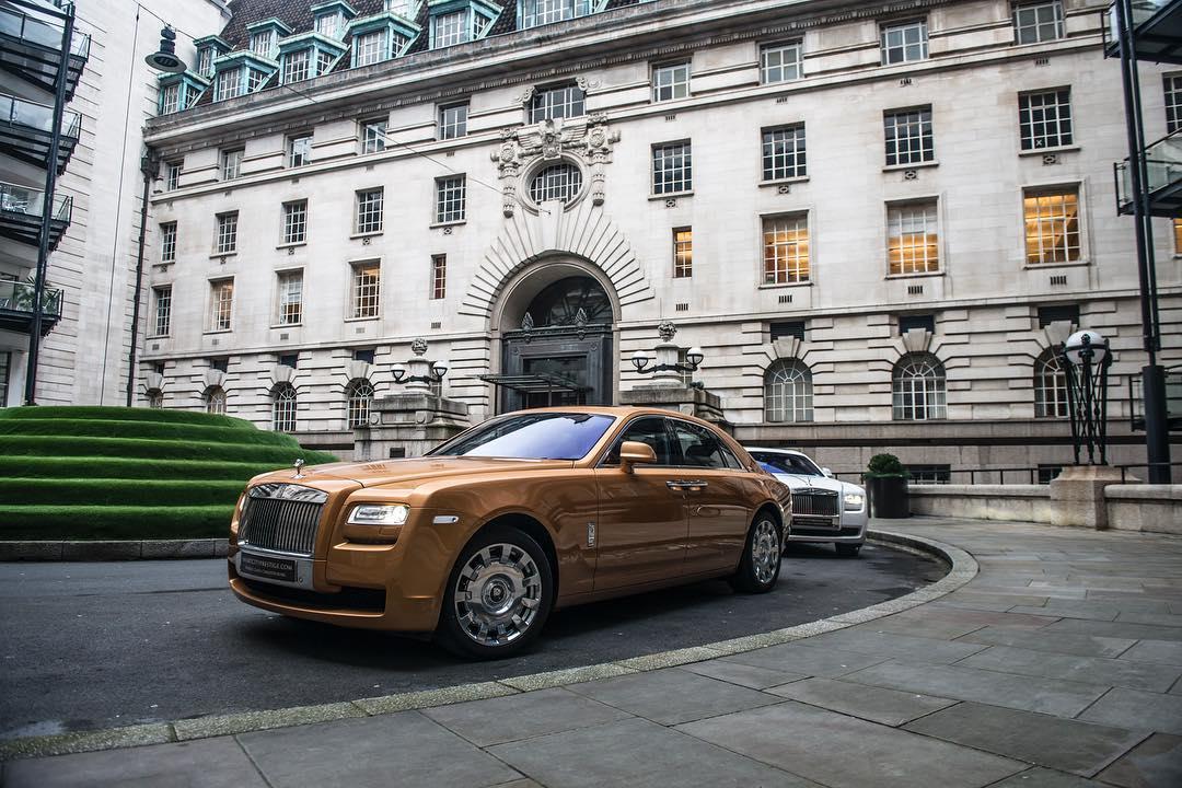Rolls Royce Ghost Gold